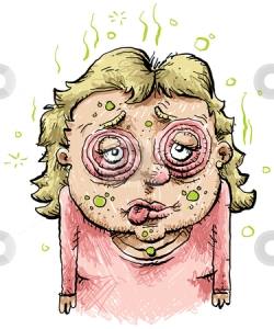 cutcaster-photo-800984664-Sick-Cartoon-Woman